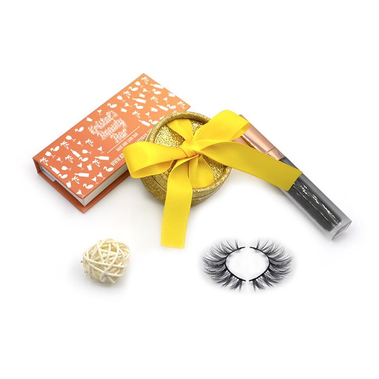 Eyelash box and glue