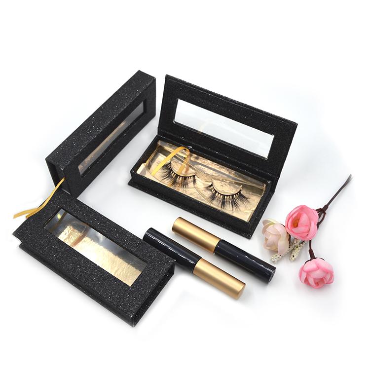 Rectangular window custom eyelash box