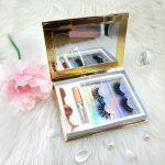 gold mink eyelashes kit