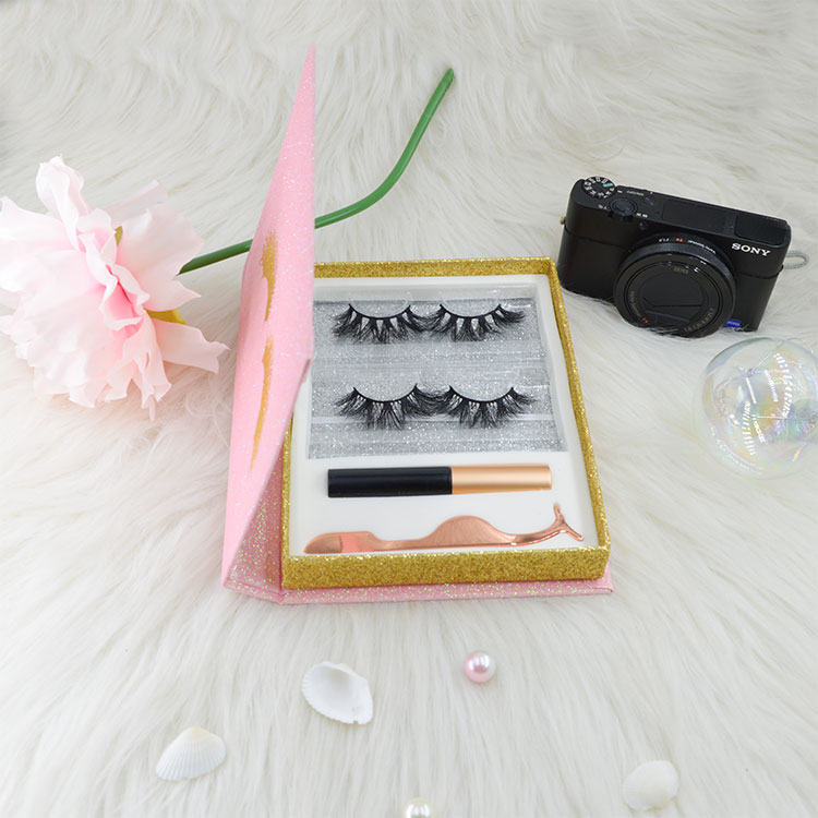 pink lashes set