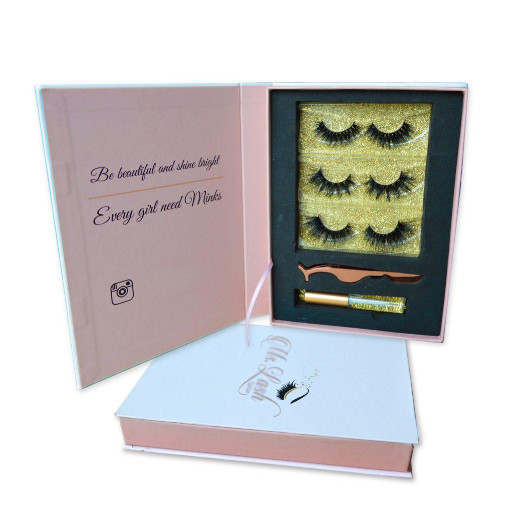 pink lashes set