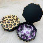 Leopard print eyelash case