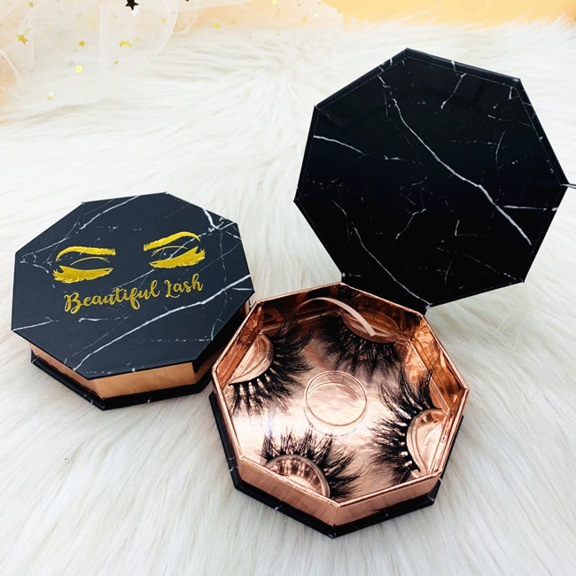 Octagonal eyelash box