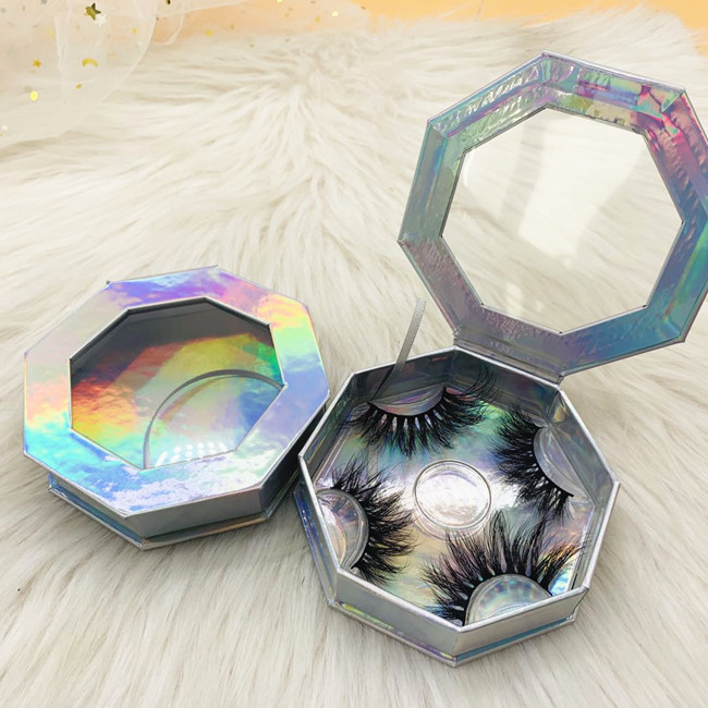 Holographic eyelash box