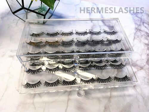 3D mink lashes display case