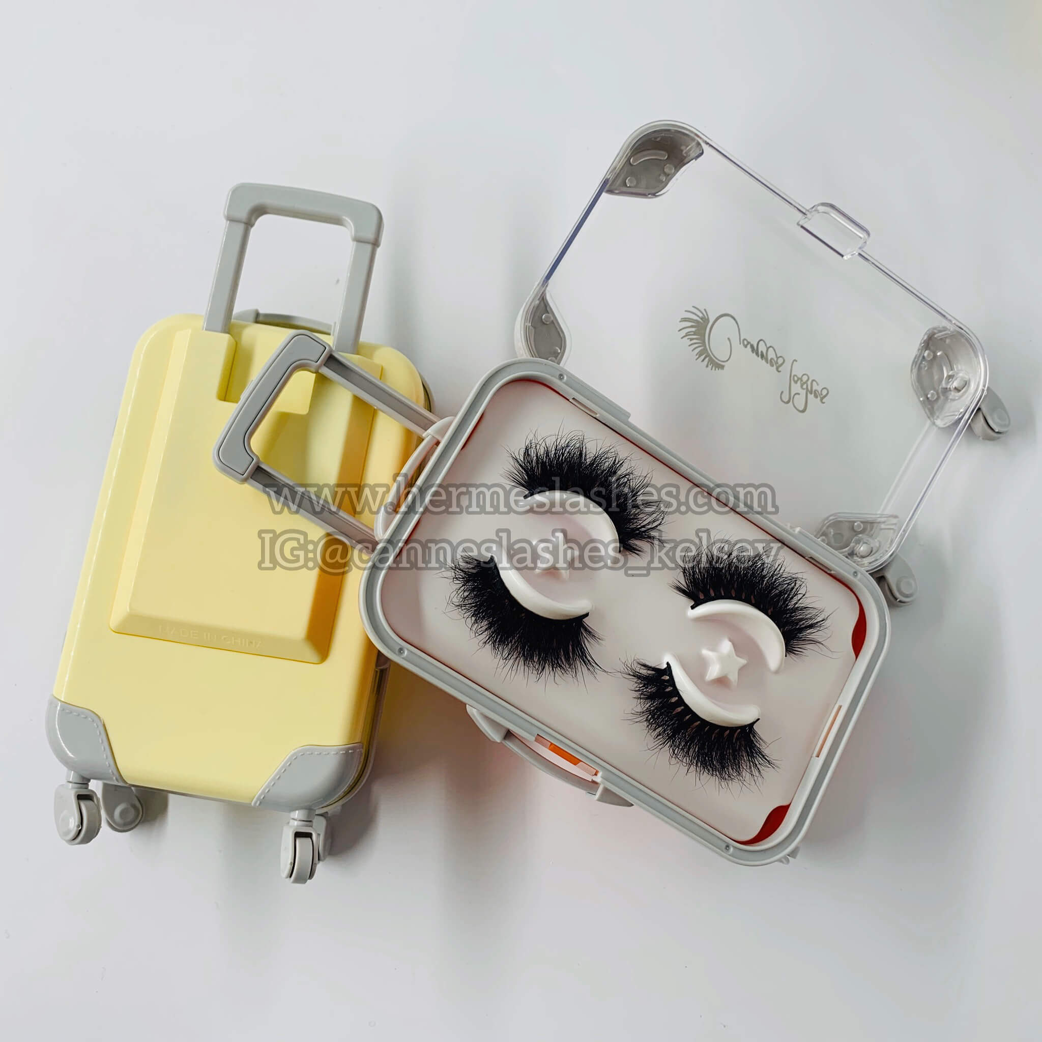 Suitcase eyelashes packaging