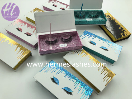 Drop liquid mink lashes box wholesale