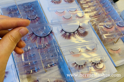 colored faux mink lashes