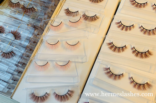 colored false eyelashes wholesale