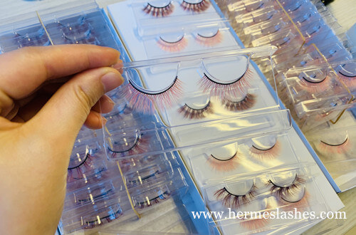 faux mink lashes colorful