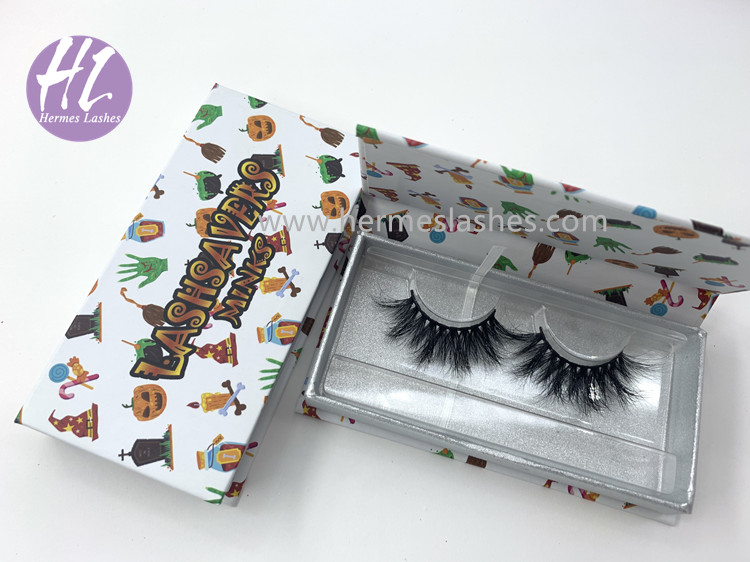 Halloween Mink Eyelashes Packaging