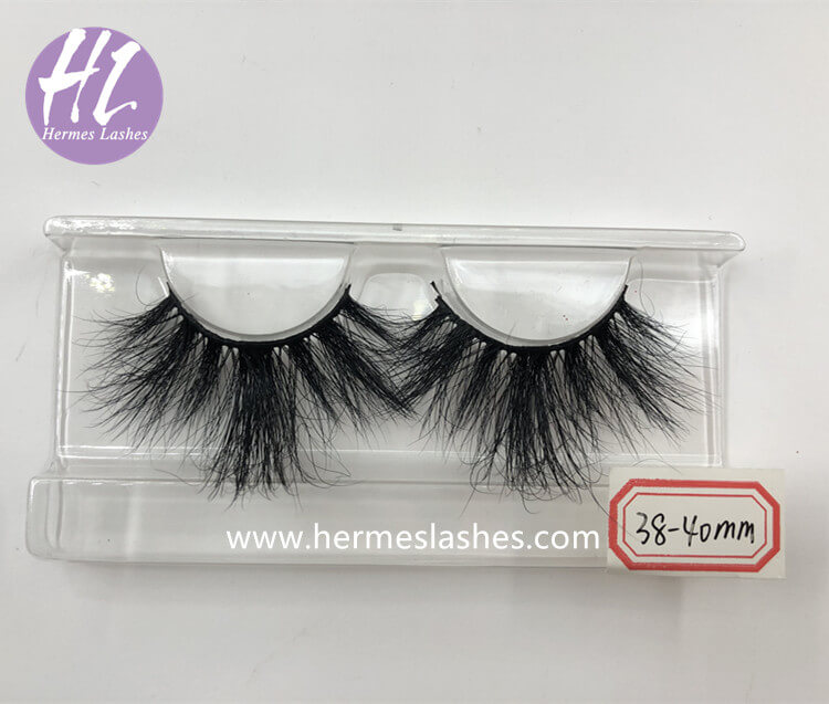 38mm-40mm Mink Eyelashes_ mink lash wholesale