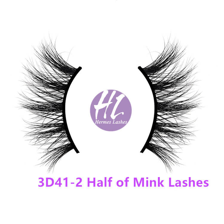 Half of 3D mink lashes