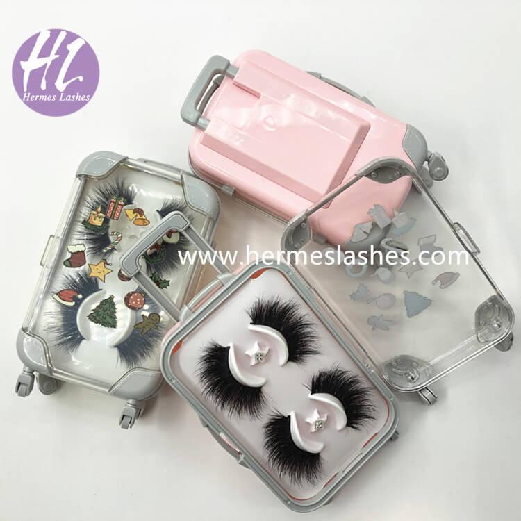Chrismas Suitcase Lashes Packaging