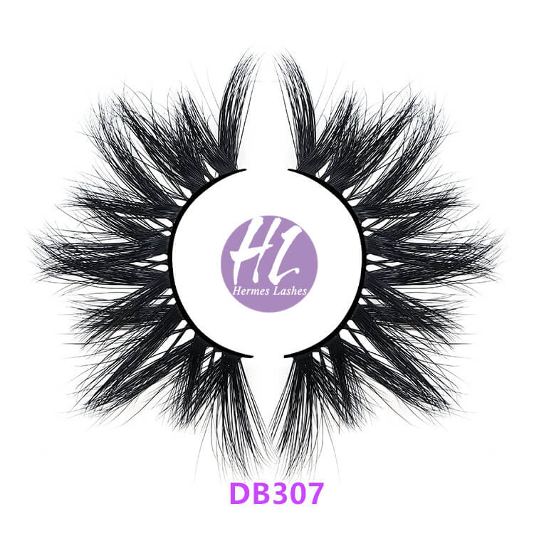 5d double layered mink lashes 25mm