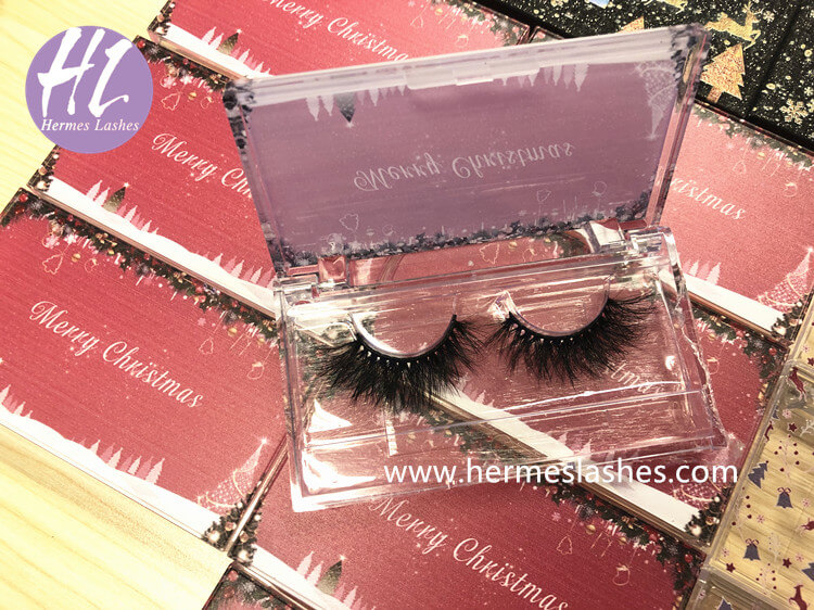 Christmas Clear Arcylic Eyelash Packaging