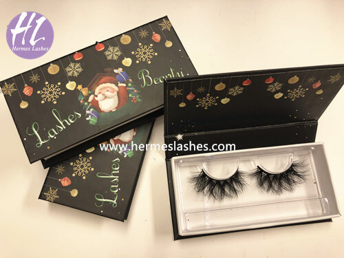 custom chrismas lash boxes